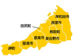 クラシード阪南 地図